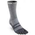 Injinji Outdoor Medium Weight NuWool Charcoal/Black Crew Toesocks