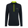 RonHill Base Ladies Thermal 200 1/2 Zip Black/Fluo Yellow