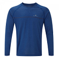 RonHill Mens Everyday Long Sleeve Tee Cobalt Marl