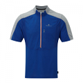 RonHill Mens Infinity Short Sleeve Zip tee Cobalt/Pebble
