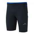 RonHill Mens Infinity Cargo Stretch Short Black/Cobalt