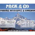 Pack N Go 600 Kcal Expedition Food Porridge With Apple & Cinnamon
