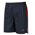 RonHill 7 inch Shorts Black Maroon