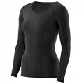 SKINS DNAmic Womens Long Sleeve Top Black/Black