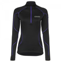 OMM Ladies Contour Fleece Black and Purple