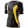 SKINS DNAMic Mens Short Sleeve Top Black/Citron