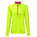 RonHill Base Ladies Thermal 200 1/2 Zip Fluo Yellow/ Magenta