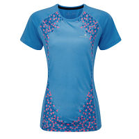 RonHill Aspiration Short Sleeve T Shirt Sky Blue/Rose