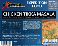 Extreme Expedition Food Chicken Tikka Masala 1000 Kcal