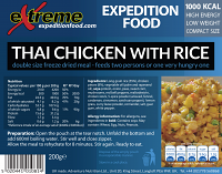 Extreme Expedition Food Thai Chicken & Rice 1000 Kcal