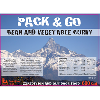 Pack n Go 600 Kcal Expedition Food Bean & Vegetable Curry