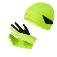 RonHill Beanie & Glove Set Fluo Yellow/Black