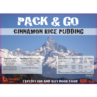 Pack N Go 600 Kcal Expedition Food Cinnamon & Rice Pudding