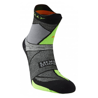 Hilly Ultra Marathon Fresh Anklet Black/Grey/Lime Green