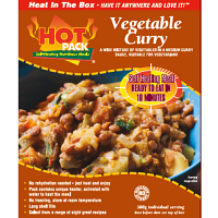 Hot Pack Vegetable Curry Box Meal