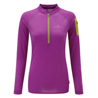 RonHill Ladies Infinity Long Sleeve Zip Tee Thistle/Circus