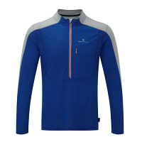 RonHill Mens Infinity Long Sleeve Zip Tee Cobalt/Pebble