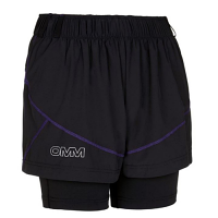 OMM Ladies Pace Shorts Black & Purple