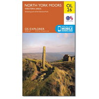 Ordnance Survey OL 26 North Yorkshire Moors Western Area 1:25 000