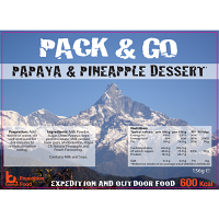 Pack N Go 600 Kcal Expedition Food Papaya & Pineapple Dessert