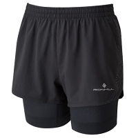 Ron Hill Women's Infinity Marathon Twin Short in Black