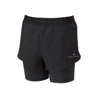 RonHill Stride Twin Short Black/Charcoal Marl
