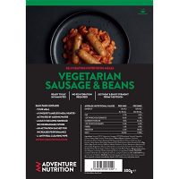 Self Heating complete pack, Vegetarian Sausage and Beans