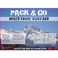 Pack N Go 600 Kcal expedition Food Mixed Fruit & Custard